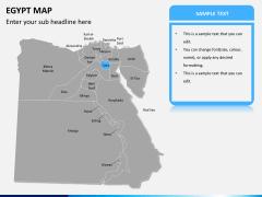 Egypt map PPT slide 9