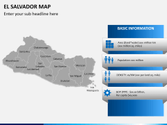 El Salvador map PPT slide 15