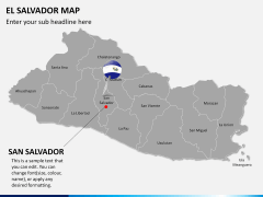 El Salvador map PPT slide 18