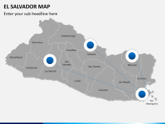 El Salvador map PPT slide 4