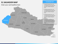 El Salvador map PPT slide 9