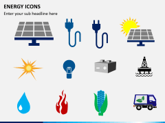 Energy icons PPT slide 1