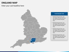 England map PPT slide 12