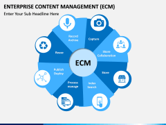 Enterprise Content Management (ECM) PPT slide 1