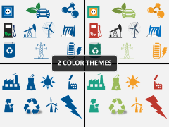 Environment icons PPT cover slide
