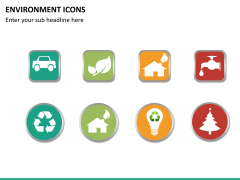 Environment icons PPT slide 6