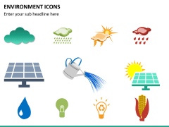 Environment icons PPT slide 7