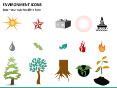 Environment icons PPT slide 8