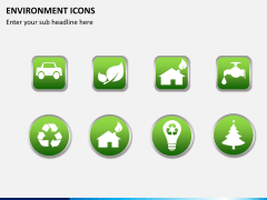 Environment icons PPT slide 1