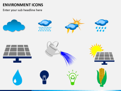 Environment icons PPT slide 2