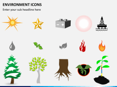 Environment icons PPT slide 3