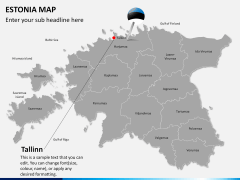 Estonia map PPT slide 18