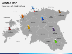 Estonia map PPT slide 4
