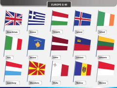 Europe flags PPT slide 2