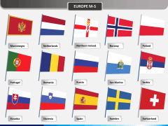 Europe flags PPT slide 3