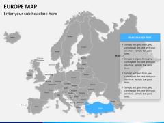 Europe map PPT slide 10