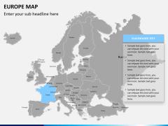 Europe map PPT slide 11