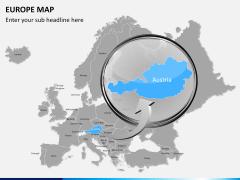 Europe map PPT slide 12