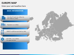 Europe map PPT slide 14