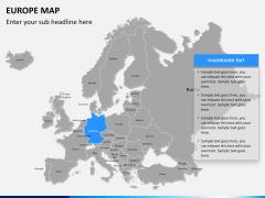 Europe map PPT slide 9