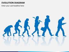 Evolution diagram PPT slide 1