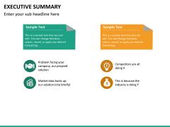 Executive summary PPT slide 23