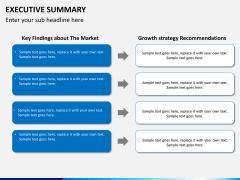 Executive summary PPT slide 5