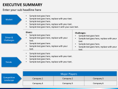 Executive summary PPT slide 6