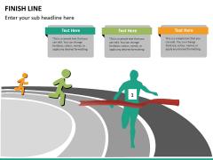 Finish line PPT slide 10