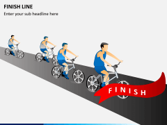 Finish line PPT slide 1