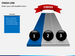 Finish line PPT slide 2