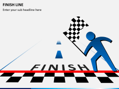 Finish line PPT slide 3
