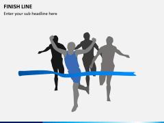 Finish line PPT slide 4