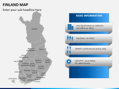 Finland Map PPT slide 13