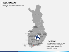 Finland Map PPT slide 15