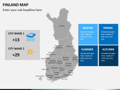 Finland Map PPT slide 16