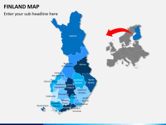 Finland Map PPT slide 2