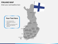Finland Map PPT slide 3