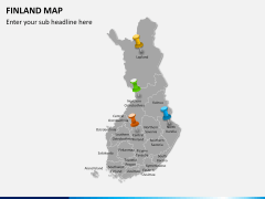 Finland Map PPT slide 4