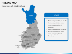 Finland Map PPT slide 9