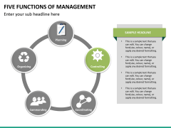 Five functions of management PPT slide 9