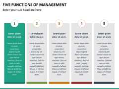 Five functions of management PPT slide 14