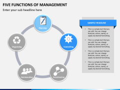 Five functions of management PPT slide 2