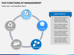 Five functions of management PPT slide 3
