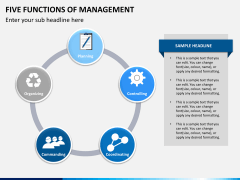 Five functions of management PPT slide 4