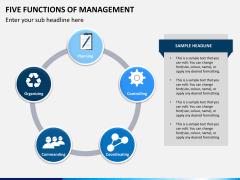 Five functions of management PPT slide 5