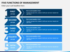 Five functions of management PPT slide 6