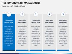 Five functions of management PPT slide 7