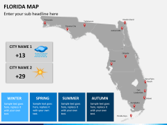 Florida map PPT slide 10