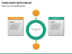 Flow chart with circles PPT slide 16